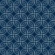 Abstract geometric woven squares seamless pattern in blue and white, vector — ベクター素材ストック