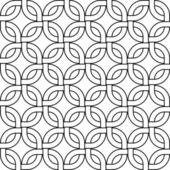 Abstract geometric woven squares seamless pattern in black and white, vector — Stockvektor
