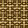 Wicker wooden straw texture seamless pattern in brown, vector — Stock Vector #35889053