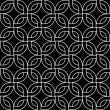 Geometric abstract woven squares seamless pattern in black and white, vector — Stock Vector