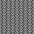 Black and white chevron geometric seamless pattern, vector — Stock Vector