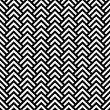 Stock Vector: Black and white chevron geometric seamless pattern, vector