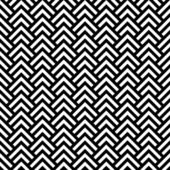 Black and white chevron geometric seamless pattern, vector — Vetor de Stock