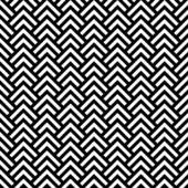 Black and white chevron geometric seamless pattern, vector — Stock Vector