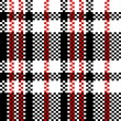 Chinese plastic plaid checker bag in black and white seamless pattern, vector — Stock Vector