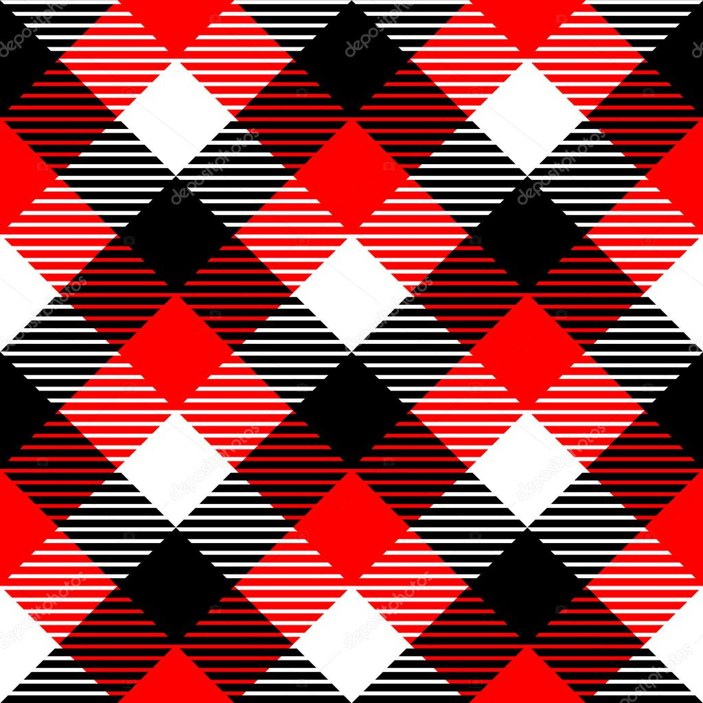 Seamless pattern in black white and red vector stock illustration