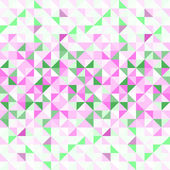 Pastel pink green and white abstract geometric seamless pattern, vector — Stock Vector