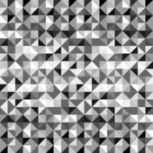 Black and white geometric triangles seamless pattern — Vetor de Stock