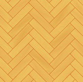 Yellow realistic wooden floor herringbone parquet seamless pattern, vector — Vettoriale Stock