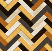 Colorful realistic wooden floor herringbone parquet seamless pattern, vector — Stock Vector