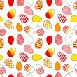 Colorful red yellow and white modern easter eggs seamless pattern, vector — Vecteur #42038209