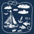 ExCell Home Fashions Sea Life Shower Curtain Blue