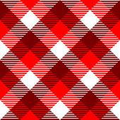 Kratkę wzór tkaniny wzór w czerwone i białe, wektor — Wektor stockowy