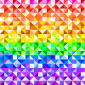 Colorful rainbow abstract triangles geometric pattern, vector — Stok Vektör