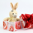 Stock Photo: Plush rabbit
