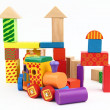 Wooden building blocks — Stockfoto