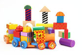 Wooden building blocks — Stok fotoğraf