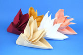 Folded napkins — Stock Photo