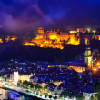colorful night in heidelberg — Stock Photo