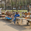 Handicrafts row of stalls . — Stock Photo