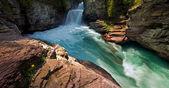 Beautiful canyon waterfall — Stock Photo