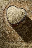 Quinoa Heart — Stock Photo