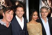 Dennis Quaid, Bradley Cooper, Zoe Saldana, Jeremy Irons — Stock Photo