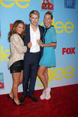 Vanessa Lengies, Chord Overstreet, Heather Morris — Stock Photo