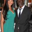 Royalty-Free Stock Photo: Kimora Lee and Djimon Hounsou