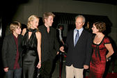 Miles Heizer, Alison Eastwood, Kyle Eastwood, Clint Eastwood, an — Stock Photo