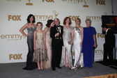 Jessica Par, Kiernan Shipka. Elisabeth Moss, Matthew Weiner, Christina Hendricks, Cara Buono — Stock Photo