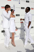 Ashton Kutcher, Demi Moore, and Sean Combs — Stock Photo