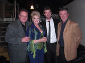 Brennan Thicke, Gloria Loring, Robin Thicke, and Alan Thicke — Stock Photo
