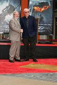 Leonard Maltin & Michael Caine — Stock Photo