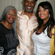 James Pickens Jr, wife Gina, daughter Gavyn - Stock Photo