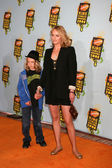 Amber Valetta and Son — Stock Photo