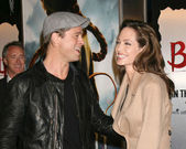 Brad Pitt and Angelina Jolie — Stock Photo