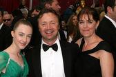 Saoirse Ronan, Paul and Michelle Ronan — Stock Photo