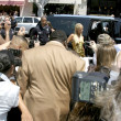 Paris Hilton arriving at Kitson, with fans & Press - Stock Photo