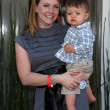 Melissa Joan Hart & son Braydon Hart Wilkerson — Stock Photo