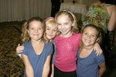 Amanda & Rachel Pace, Harley Graham, and Darcy Rose Byrnes — Stock Photo