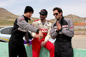 Zachary Levi, Keanu Reeves, & Adrien Brody discuss racing — Stock Photo