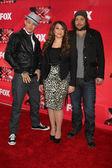 Chris Rene, Melanie Amaro, Josh Krajcik — Stock Photo