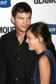 Ashton Kutcher and Tallulah Belle Willis — Stock Photo