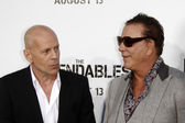 Bruce Willis & Mickey Rourke — Stock Photo