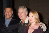 Lawrence Fishburne, William Petersen, and Marg Helgenberger — Stock Photo