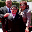 Rico Rodriguez & parents — Stock Photo