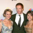 Damian Lewis and Wife , with Sarah Shahi — Stock Photo