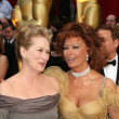 Meryl Streep and Sophia Loren - Stockfoto