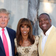 Donald Trump, Holly Peete, & Rodney Peete - Stock Photo